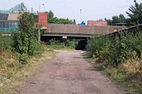 Five Ways station Midland Railway goods line looking North