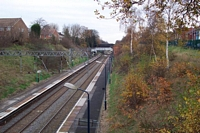 Gravelly Hill station view from Hillaries Road