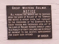 Great Alne station GWR plaque