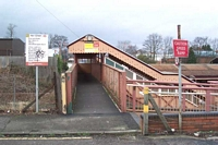Hall Green station footbridge entrance