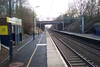 Hampton-in-Arden station Coventry platform towards Coventry