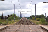 Midland Metro line towards Birmingham