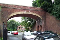 Harborne station Park Hill Road bridge