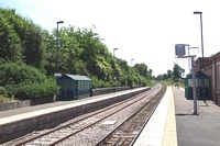 Hartlebury station looking towards Worcester