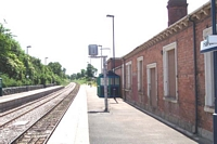 Hartlebury station Birmingham platform looking towards Worcester