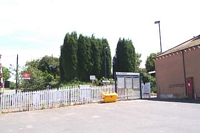 Hartlebury station entrance to Birmingham platform