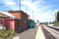 Hartlebury station looking back from end of Birmingham platform