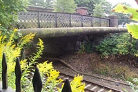 Hazelwell station Cartland Road footbridge