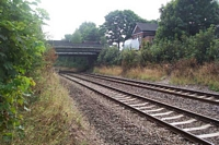 Hazelwell station platform site from track level