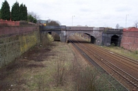 Hockley station goods tracks towards Winson Green