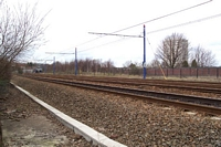 Hockley station looking towards All Sainst Road