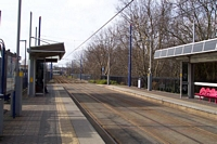 Jewellery Quarter Midland Metro platform towards Wolverhampton