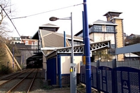 Jewellery Quarter station building from Metro stop
