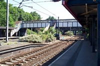 Kings Norton station footbridge and Pershore Road bridge