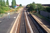 Langley Green station viewed from footbridge