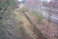Lapworth station disused trackbed
