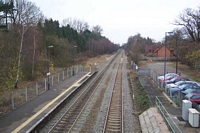 Lapworth station towards Birmingham from footbridge