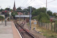 Lichfield City station Engineers siding