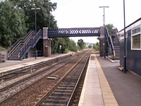 Repainted Lye station footbridge