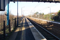 Marston Green station looking towards Birmingham