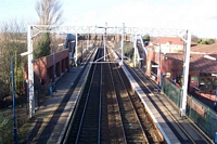 Marston Green station view from disabled footbridge