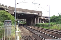 View towards Newton Road station first and third incarnation