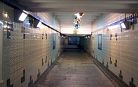 Olton station platform subway
