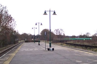 Olton station looking towards Birmingham