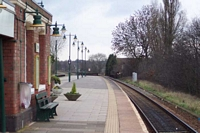 Olton station looking towards Leamington Spa