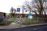 Pelsall station site entrance, Station Road