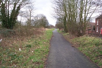 Pelsall station site towards Walsall