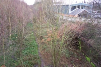 Pensnett halt site from High Street bridge