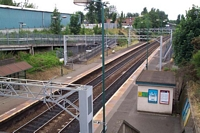 Perry Barr station viewed from footbridge