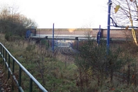 Priestfield station site looking through George Street bridge