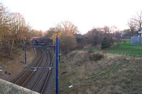 Priestfield station site from George Road bridge