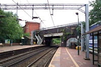 Smethwick Rolfe Street station looking towards Smethwick Galton Bridge