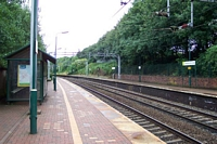 Smethwick Rolfe Street station viewed from Birmingham platform