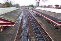 Shirley station viewed from footbridge
