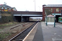 Small Heath station looking to goods yard