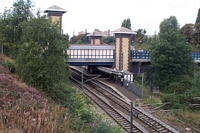 Smethwick Galton Bridge station viewed from Galton Bridge