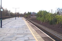 Solihull station looking towards Birmingham