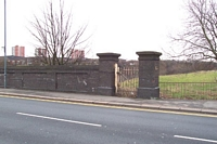 Spon Lane station old goods yard gate