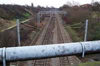 Spon Lane station site looking towards Smethwick