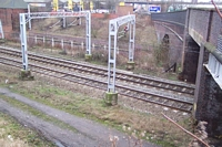 Spon Lane station platform site from Spon Lane bridge