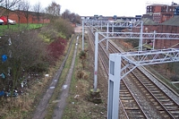 Spon Lane station site looking towards Sandwell and Dudley