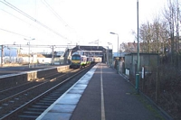 Stechford station EMU departs for Lea Hall