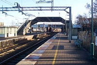 Stechford station footbridge viewed from birmingham platform