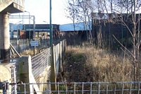 Stechford station lifted lines