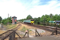 150104 passing Stourbridge Junction station signal box
