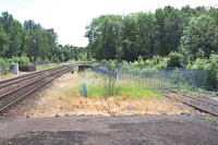Stourbridge Junction station beyond buffer stops